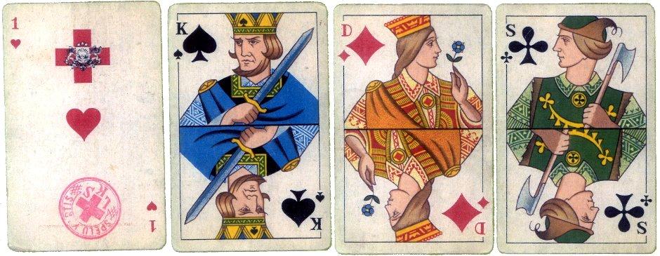 Cards designed by Alfreds Scwedrevitz, 1942