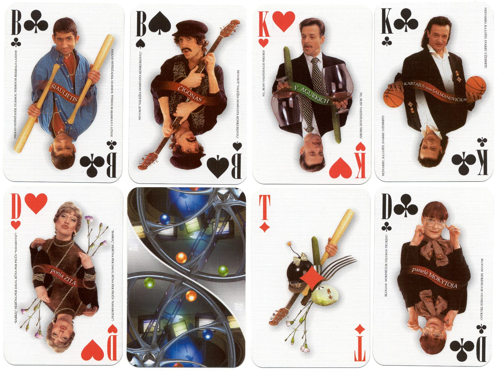 Dviracio Kortos, 2001, Lithuanian Satirical Playing Cards