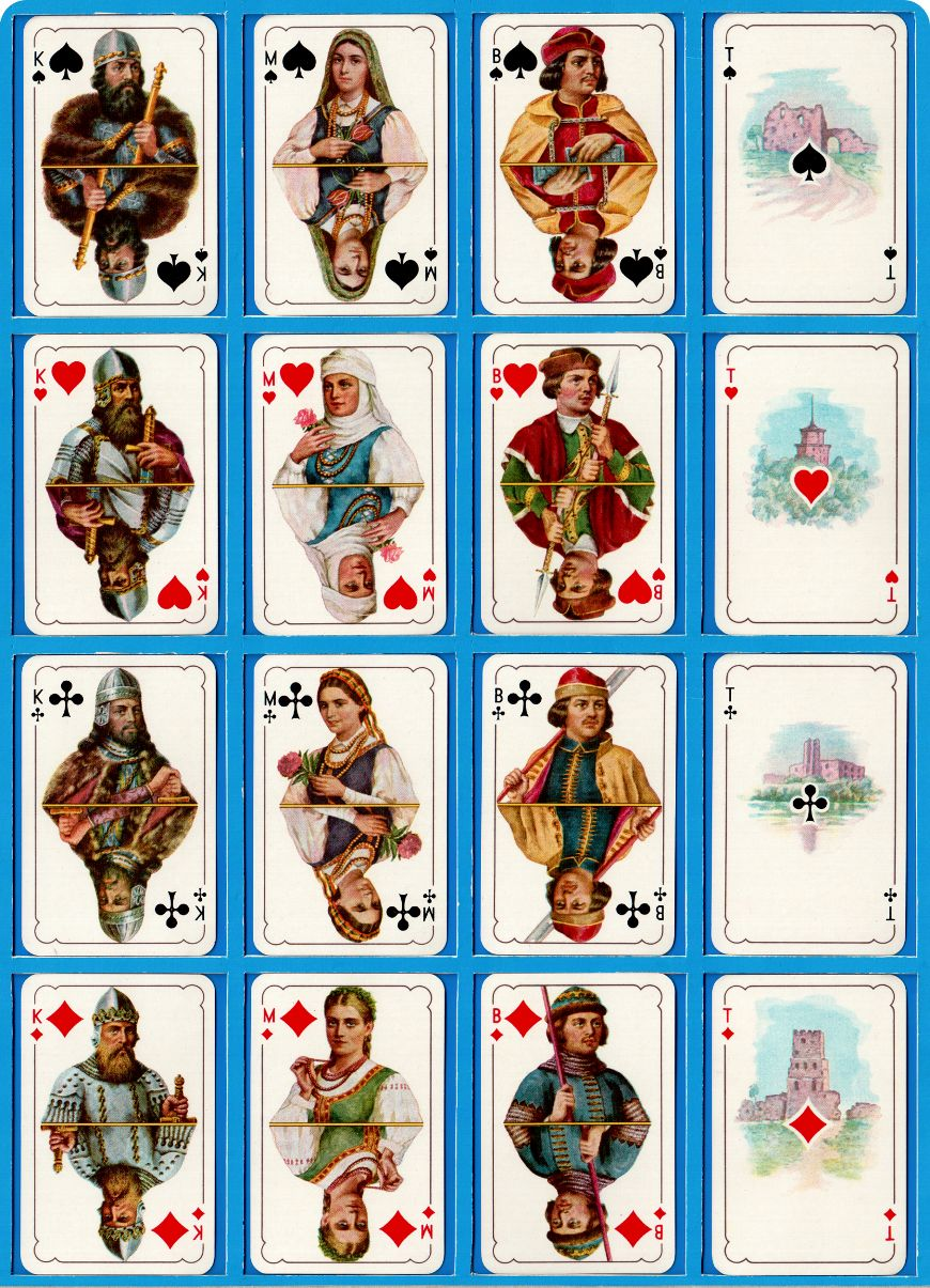 Istorinės Historical Deck from Lithuania manufactured by Spindulys Playing Card Manufactory, Kaunas, c.1930s