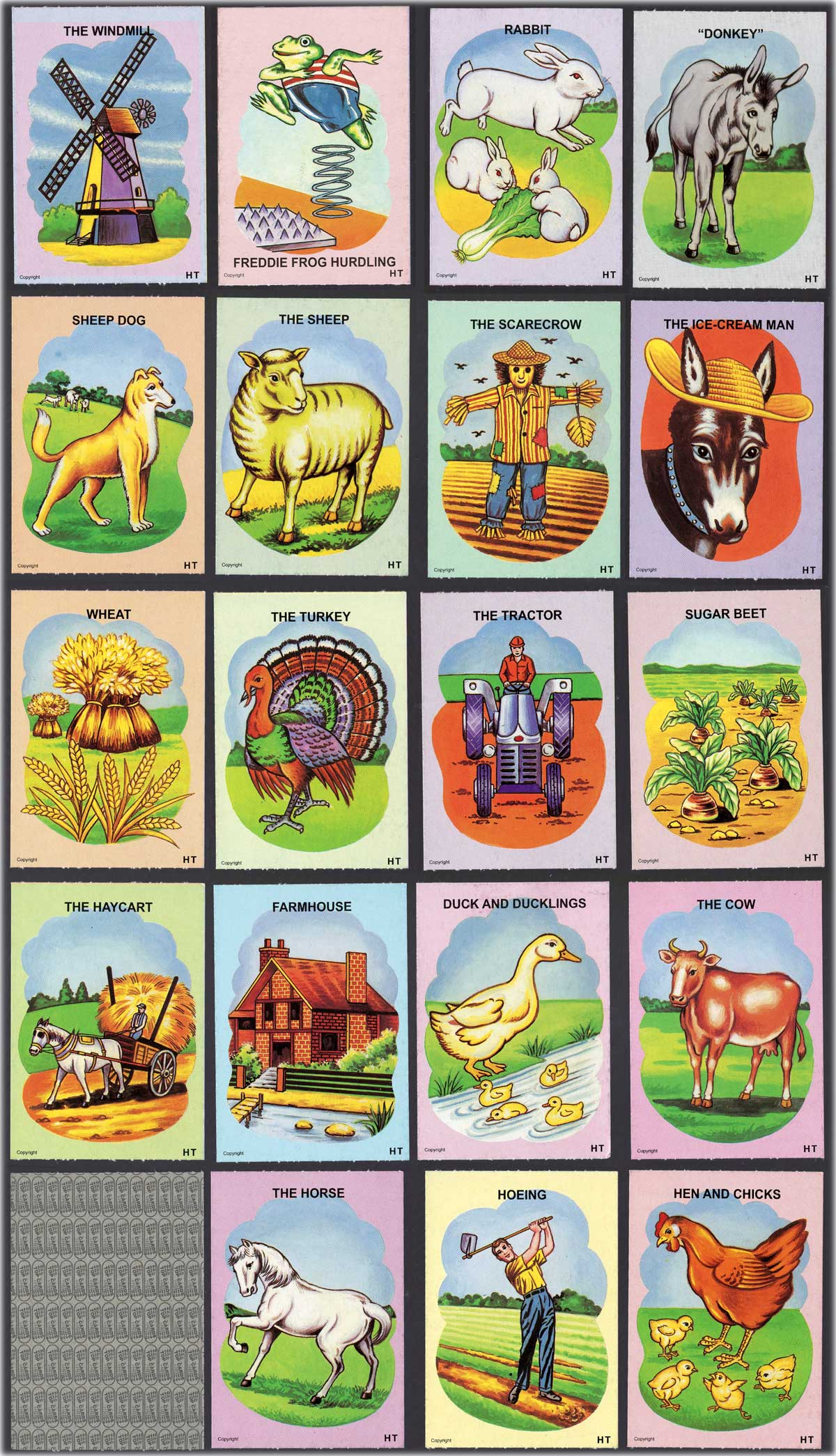 """Donkey"" children's card game designed by Ooi Yan Hee, manufactured by Hee Trading Co., Malaysia, 1984"