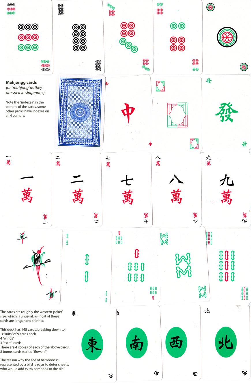 Mahjongg cards made in Malaysia