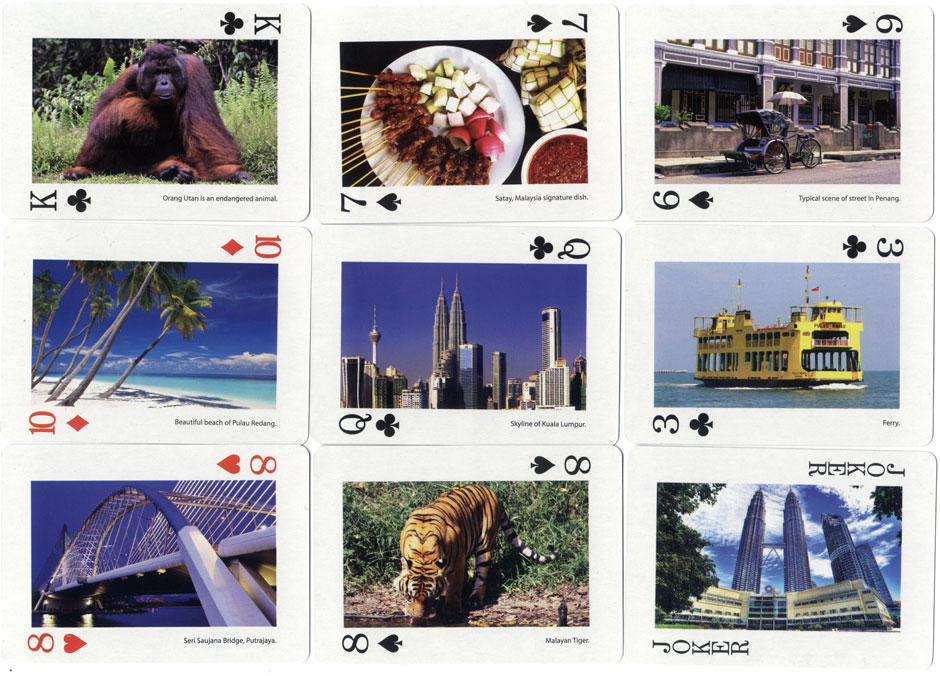 'Malaysia Scenery' souvenir playing cards