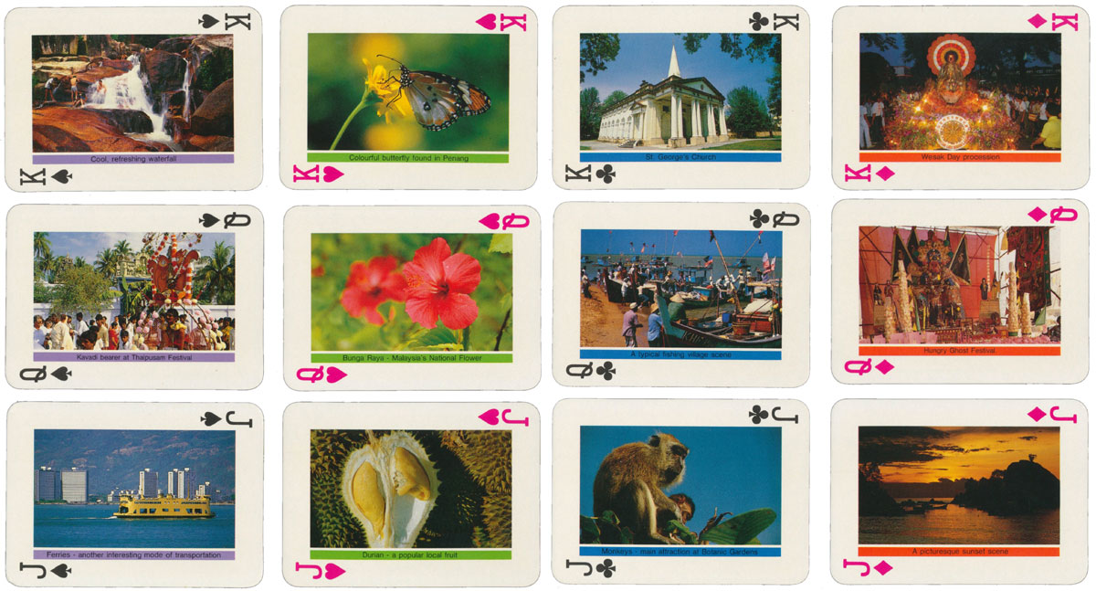 Souvenir of Penang with a different photograph on every card, manufactured by Yong Guan Heng & Co, Penang, Malaysia