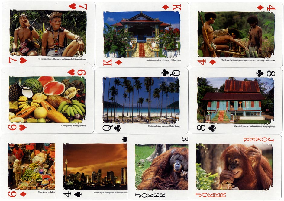 'Malaysia Truly Asia' souvenir playing cards