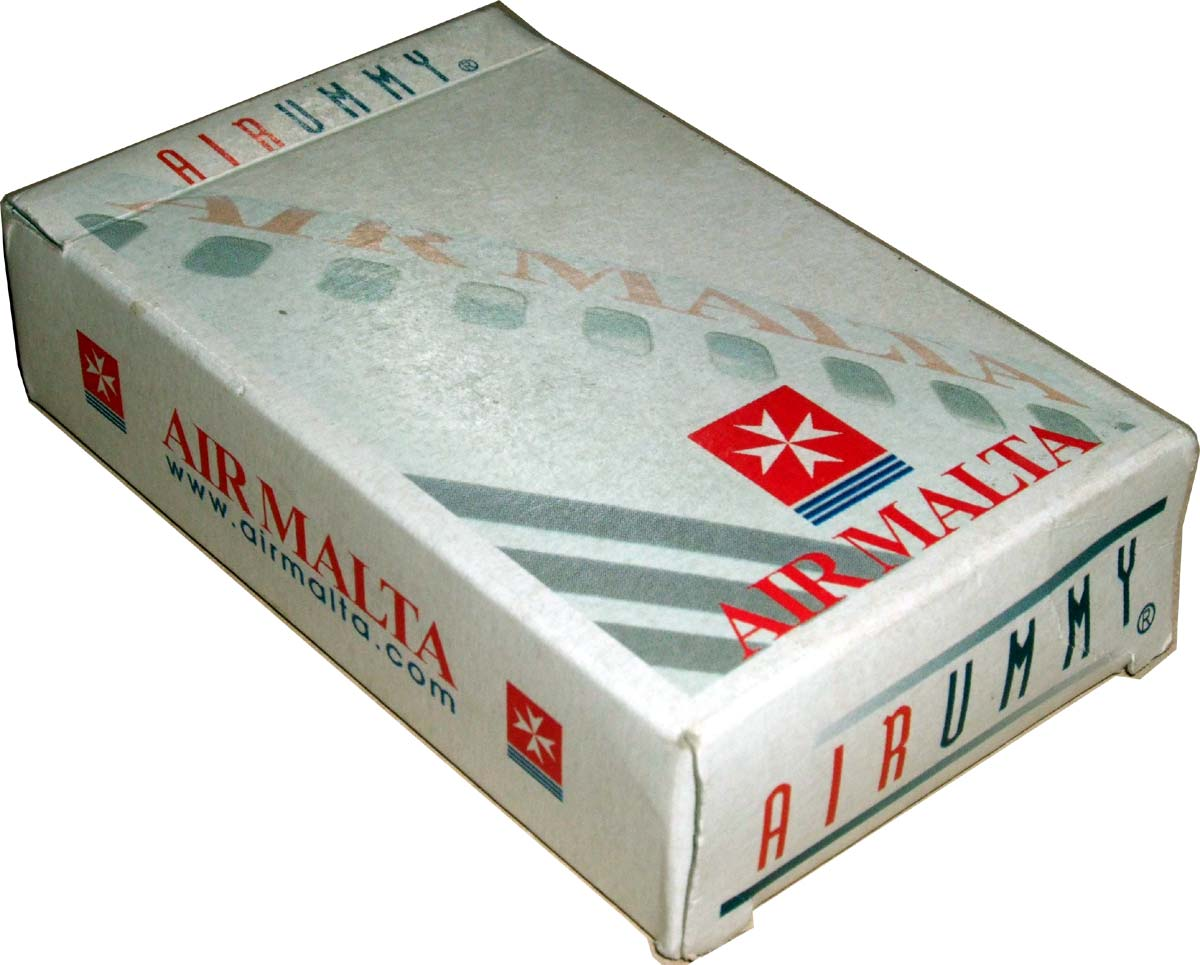 'Air Rummy' playing cards published by Air Malta, late 1990s
