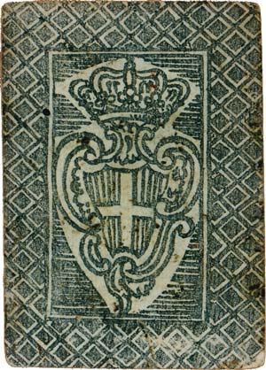 The verso of the cards shows the Order's escutcheon