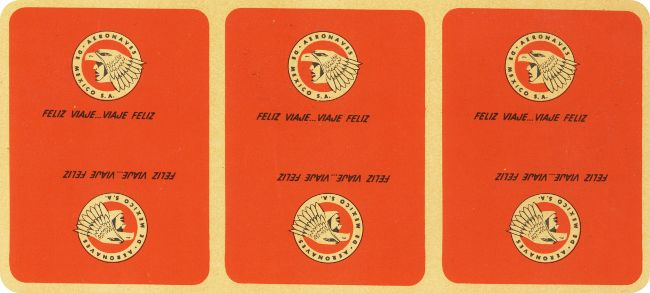 Back design from pack for Aeronaves de Mexico S.A., designed by Ramón Valdiosera Berman, mid-1960s