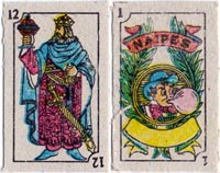 Anonymous miniature playing cards from Mexico, c.2000