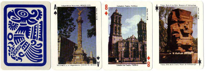 Panoramic Souvenir Playing Cards from Mexico