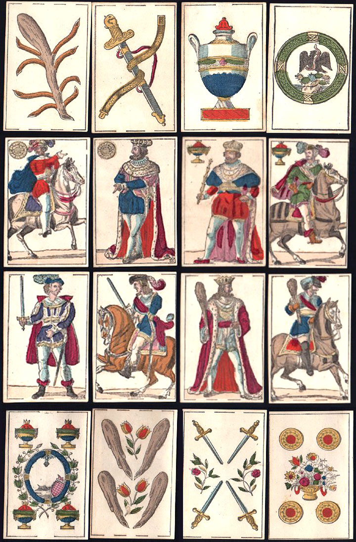 Anonymous Mexican playing cards, first quarter of the 1800s