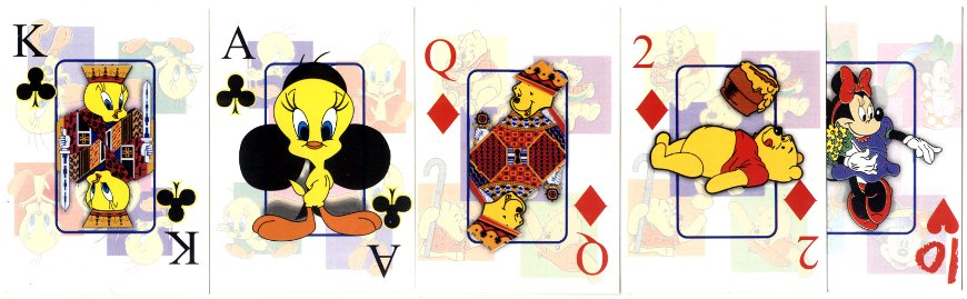 Anonymous Mexican children's Walt Disney playing cards