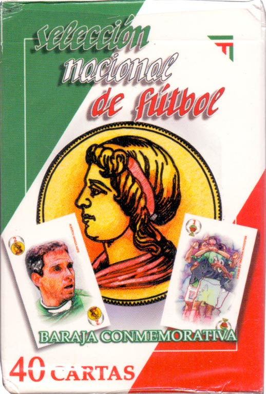 'Selección Nacional de Fútbol' playing cards published in Mexico by Novelty Corp de México S.A. de C.V., 2002