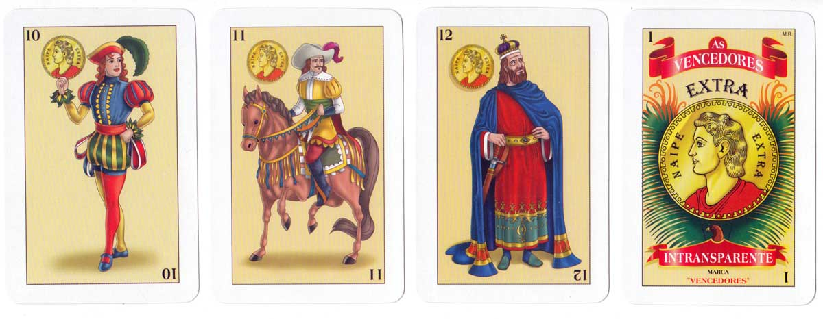Anonymous Mexican playing cards titled As Vencedores
