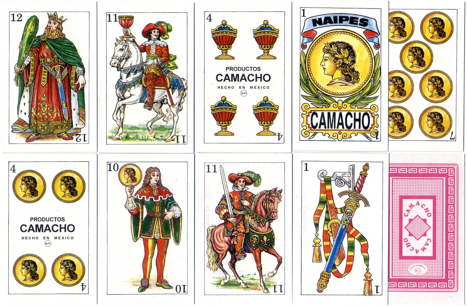 Playing Cards made by Productos Camacho, Mexico, c.2003