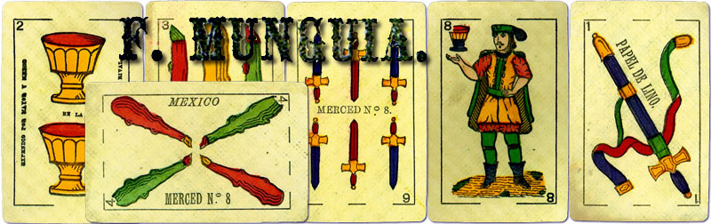F. Munguia, playing card manufacturer, Mexico, c.1868-c.1882