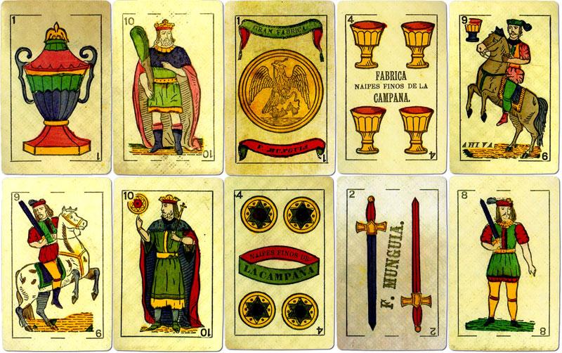 F. Munguia, playing card manufacturer, Mexico, c.1868-c.1882