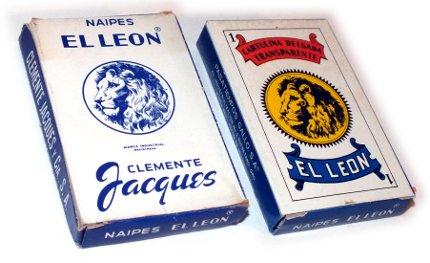 Naipes El Leon boxes, 1950 & 1975