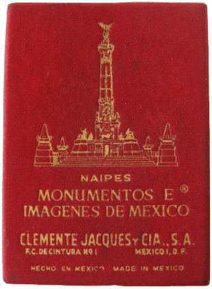 box from Souvenir of Mexico playing cards by Clemente Jacques y Cia, S.A.
