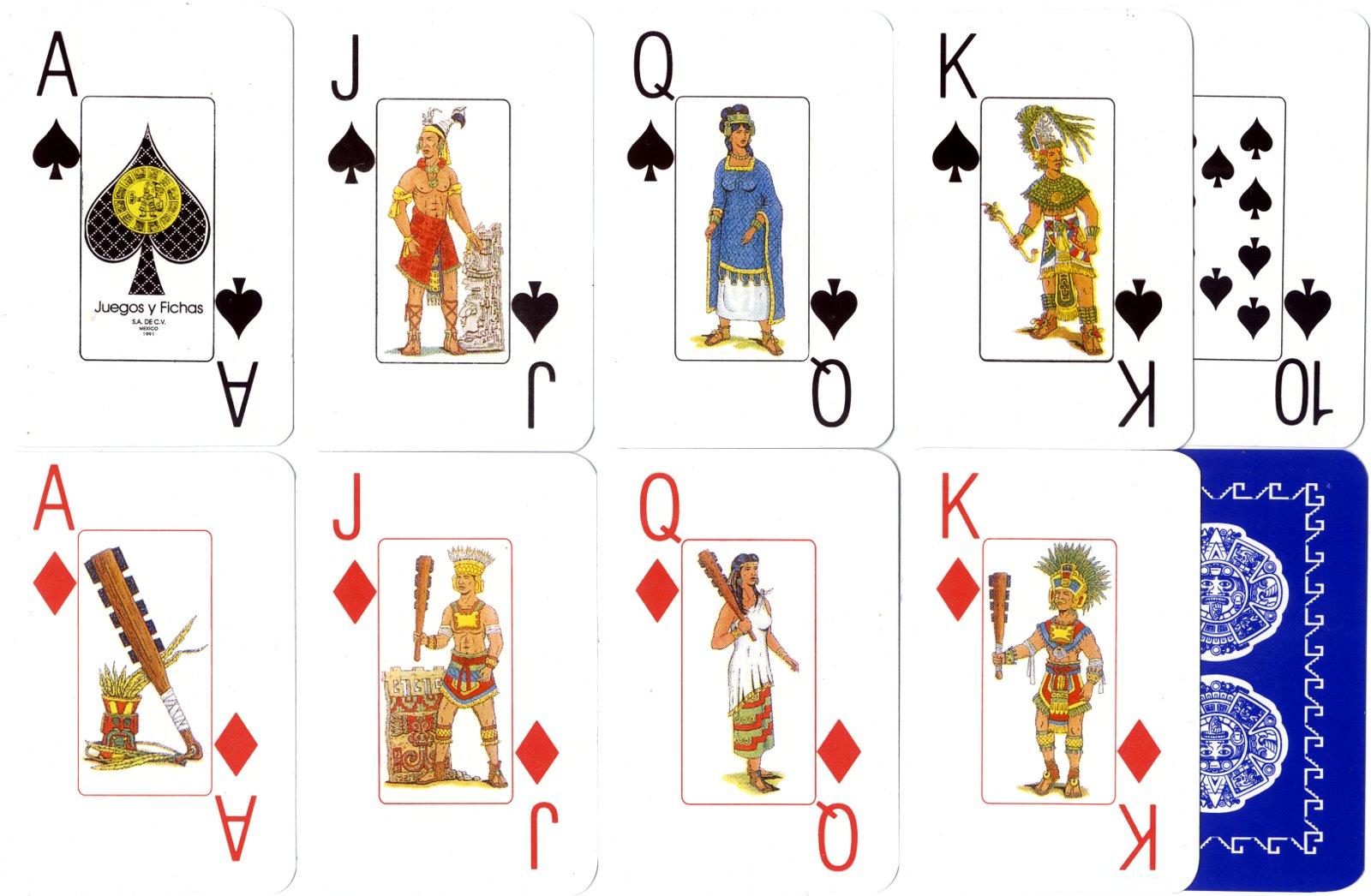 Mexican Poker cards made by Juegos y Fichas, S.A. de C.V., Mexico, 1991