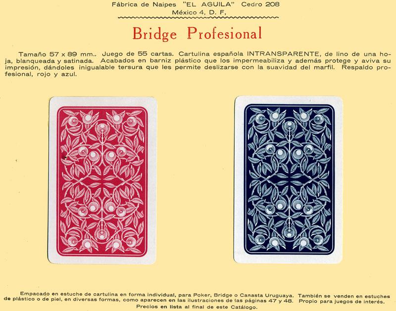 Naipes Bridge Profesional, c.1960