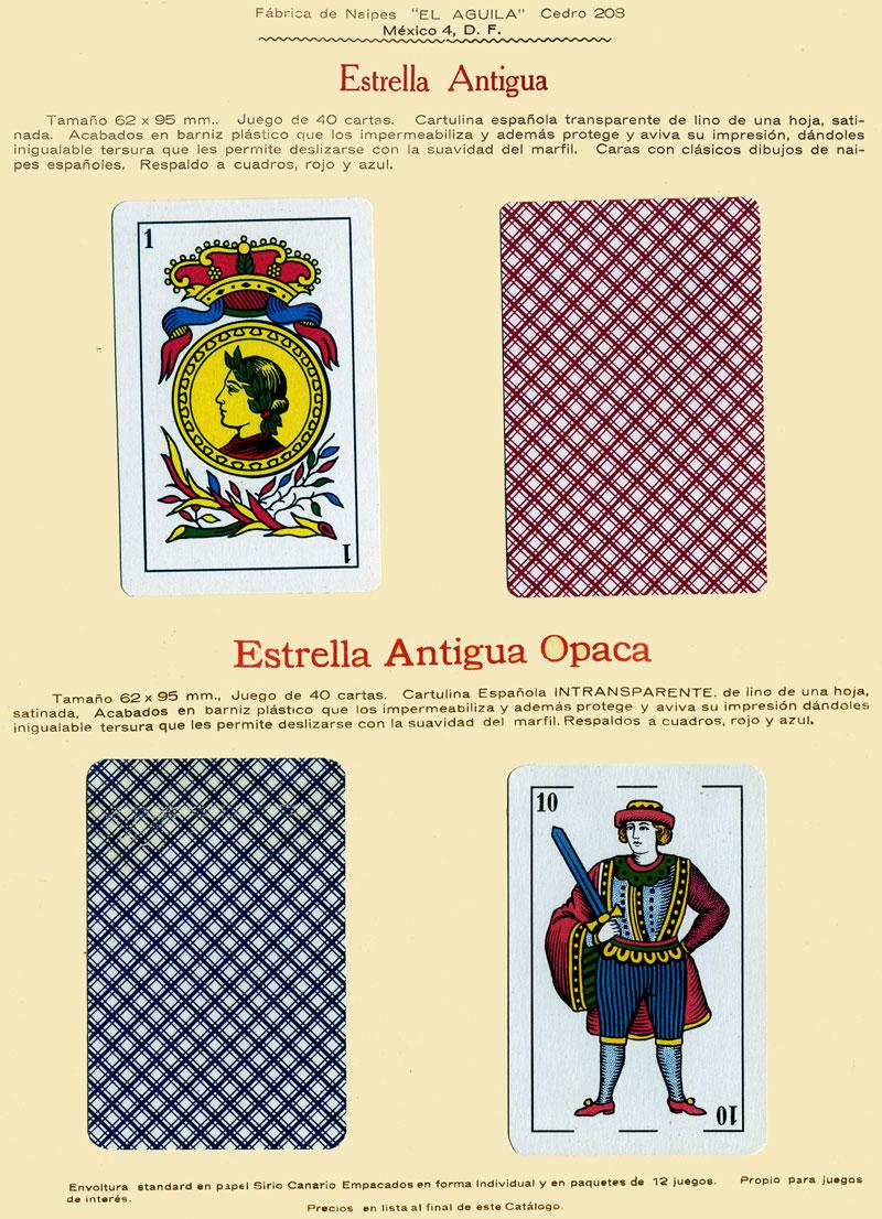 Naipes Estrella Antigua, c.1960