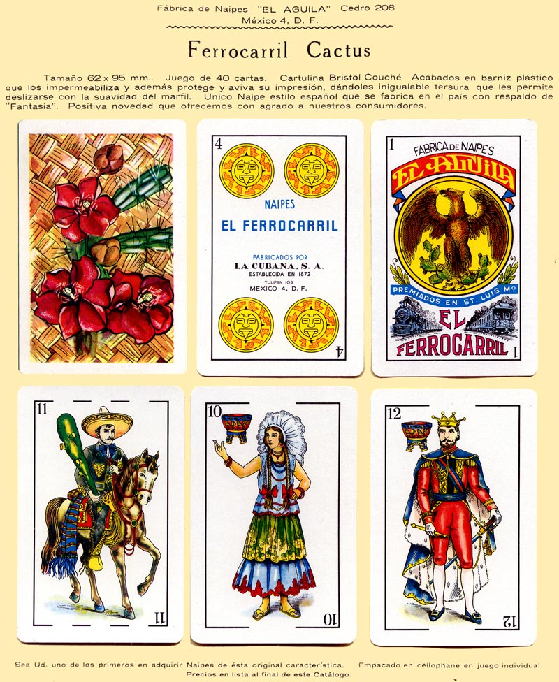 Naipes Ferrocarril Cactus, c.1960
