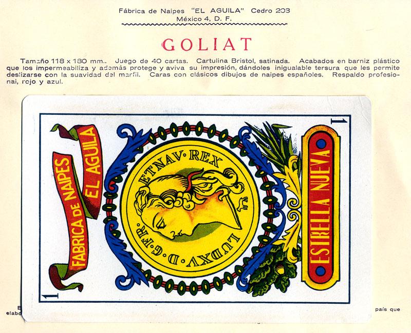 Naipes Goliat, c.1960