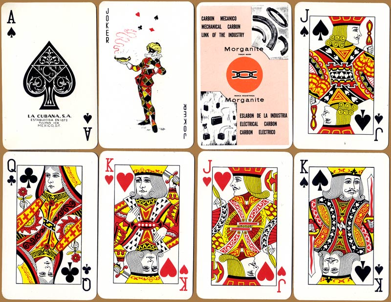 Morganite advertising playing cards by La Cubana, S.A., Mexico, c.1980