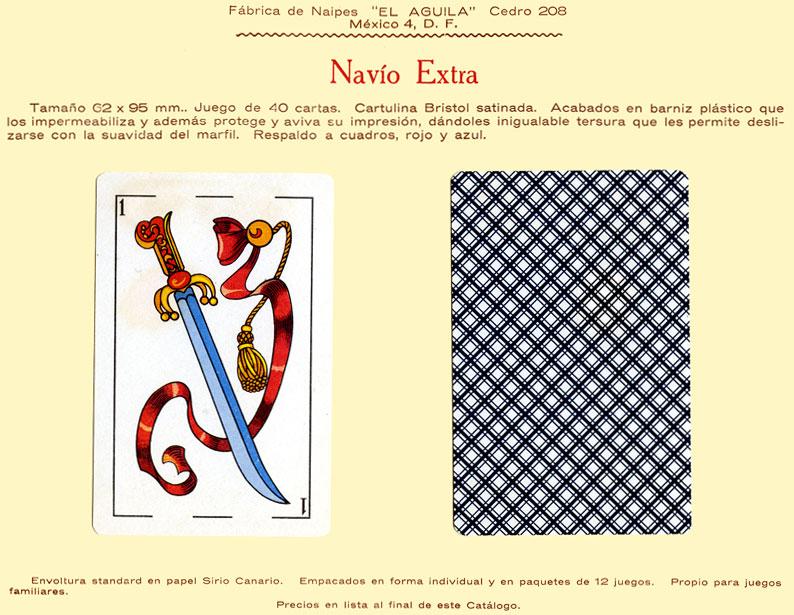 Naipes Navío Extra, c.1960