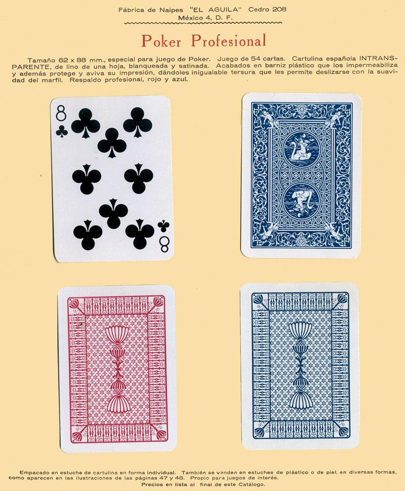 Naipes Poker Profesional, c.1960