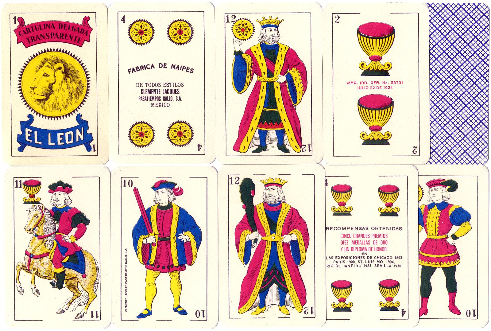 Naipes El León, Mexico, c.1975