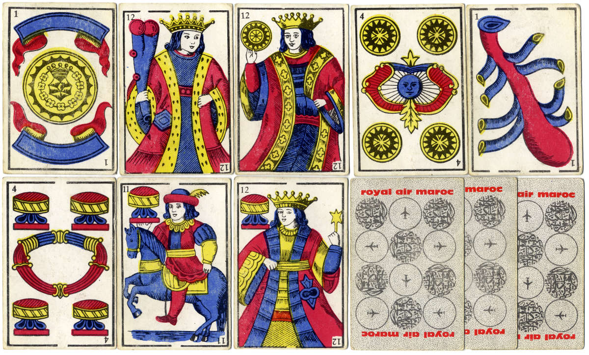 anonymous Spanish-suited playing cards for Royal Air Maroc airlines