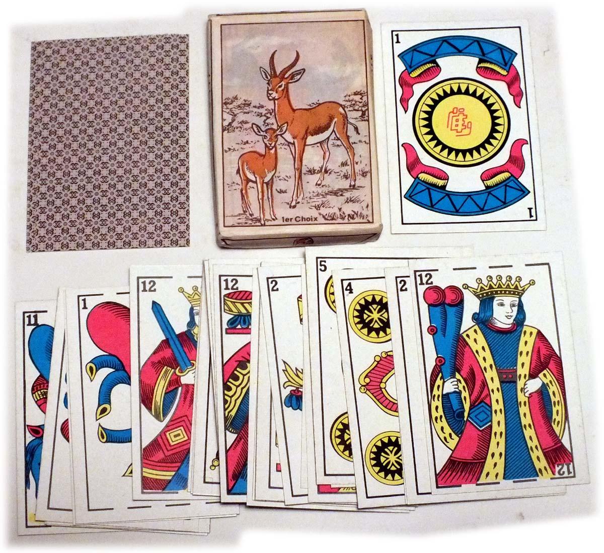 Cartes La Gazelle, manufactured by Imprimerie de L'Entente, Casablanca
