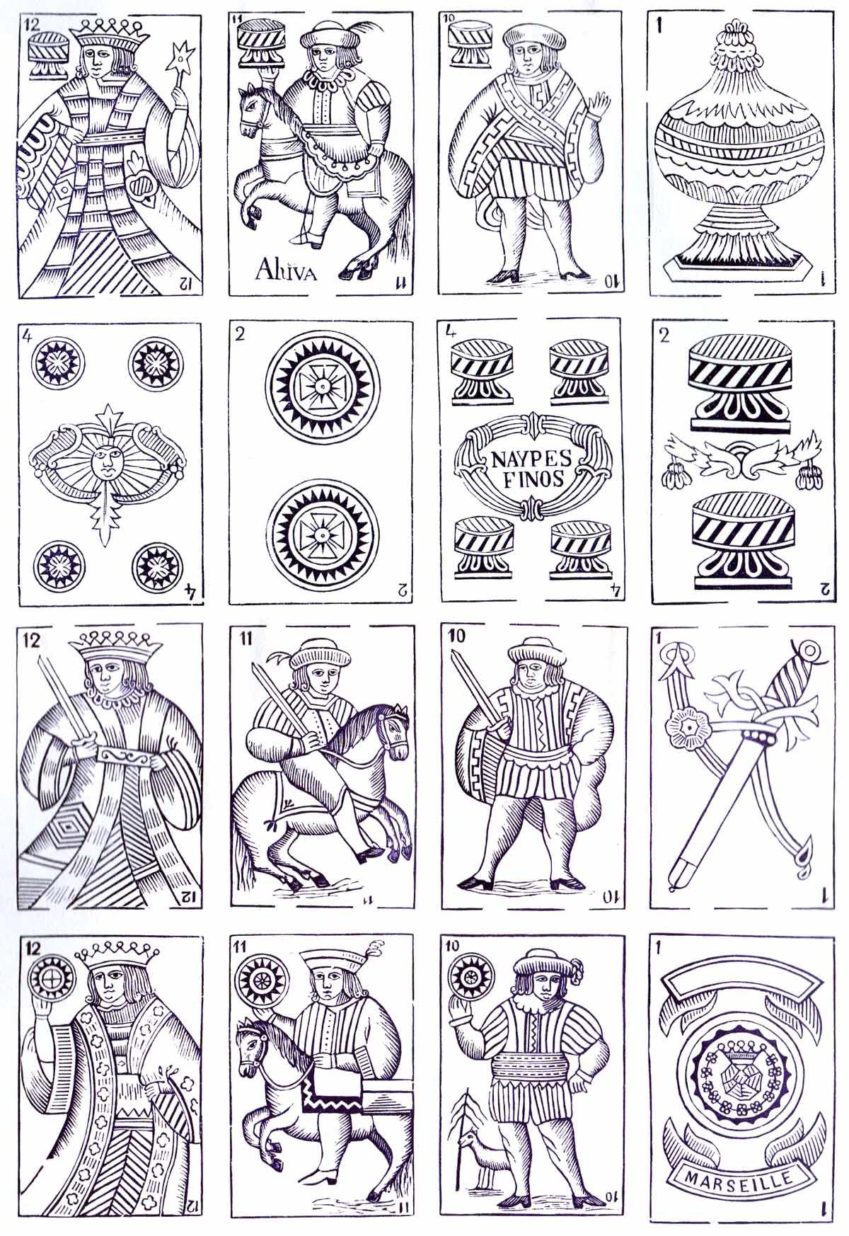 Spanish Moroccan patttern, 19th century, reprinted from original woodblocks by Vito Arienti, Edizioni del Solleone, 1978