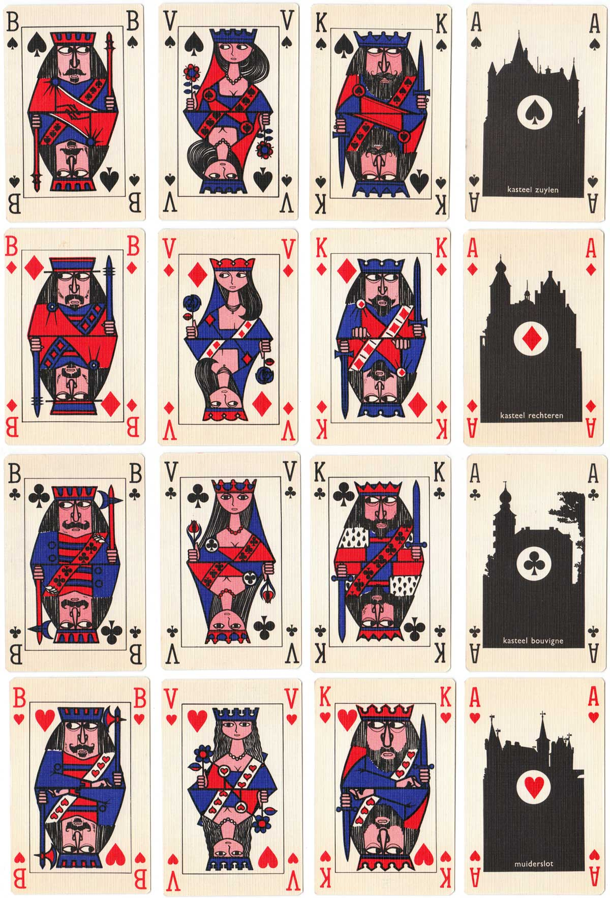 "advertising playing cards printed by Drukkerij Juten, published by ""De Kloof"", Holland, c.1970"