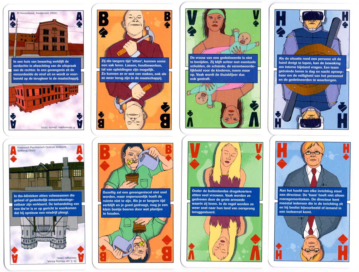 Playing cards published by the 'Dutch Dienst Justitiële Inrichtingen': a look behind the gates of Judicial / Custodial institutions