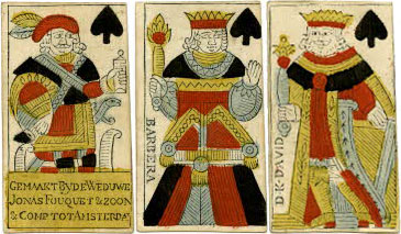 cards published by Jonas Fouquet & son, Amsterdam, 18th Century