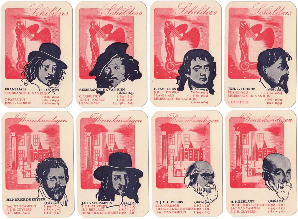 Neerlands Glorie Kwartetspel published by Hausemann & Hötte N.V, Amsterdam, 1945