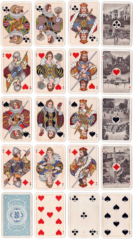 Stoomvaart Maatschappij Nederland shipping line playing cards produced by Nederlandse Speelkaarten Fabriek, c.1910