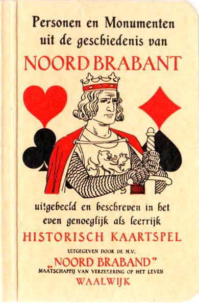 Historic card game published for Noord Braband Insurance Society, 1943