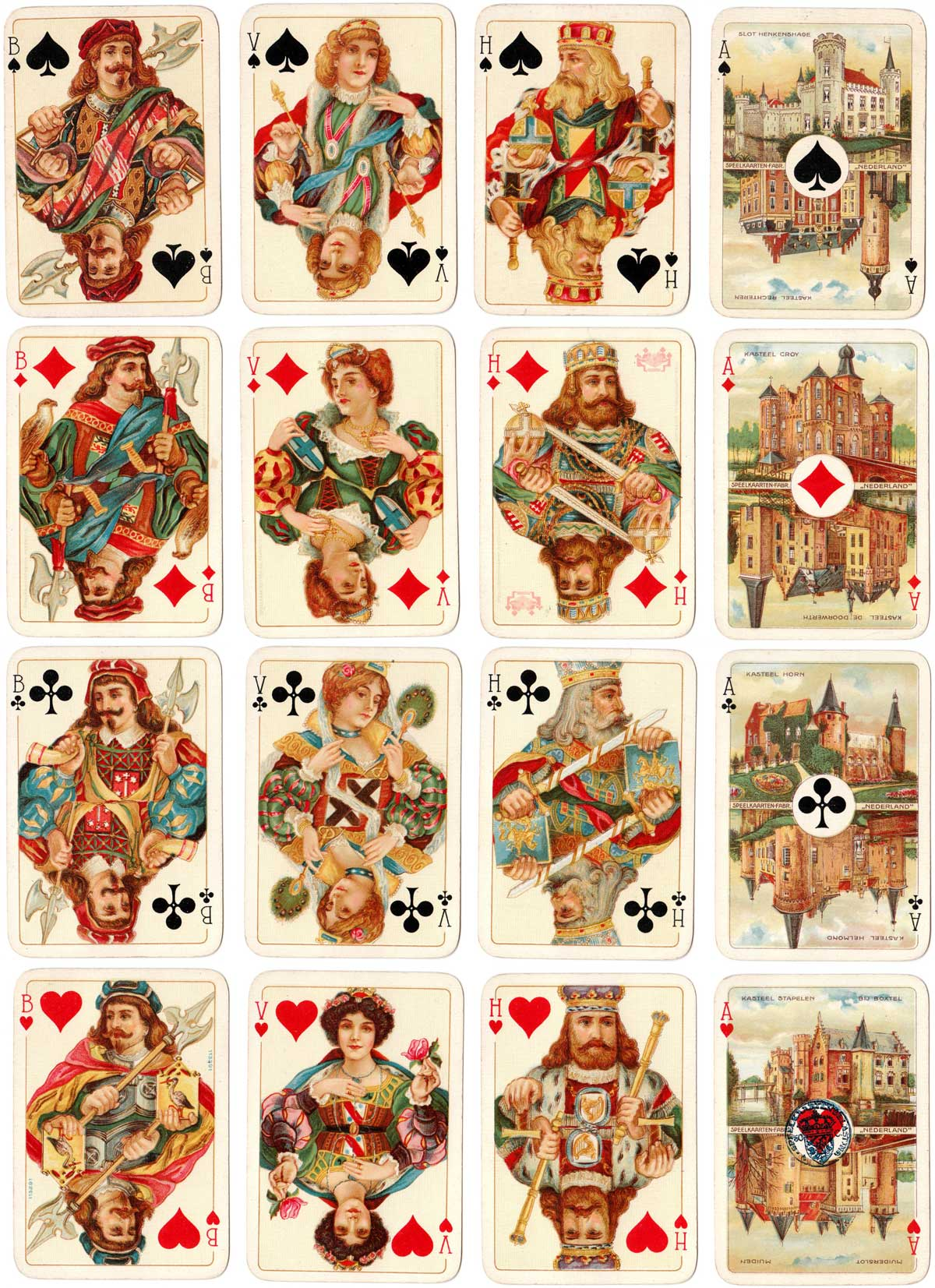 deck produced by Speelkaarten-Fabriek Nederland with reverse for the Royal West Indian Mail Service, c.1926
