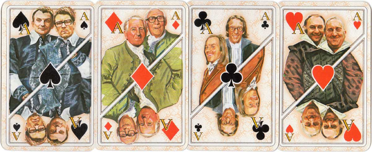 "Dutch singers and theatre artist playing cards for ""Story"" magazine, 1978"