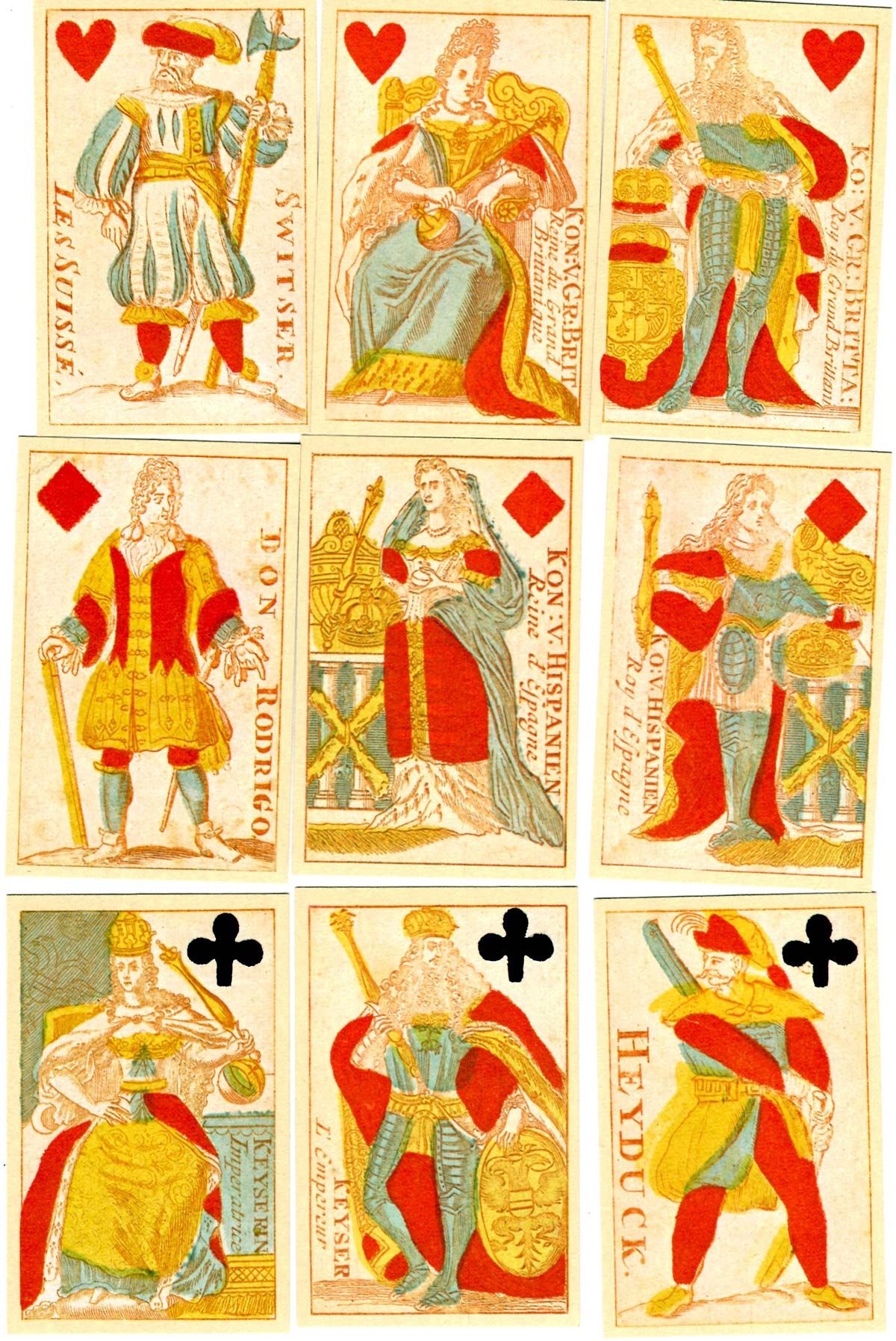 facsimile edition of cards first published by Carel de Wagenaer, Amsterdam in c.1698