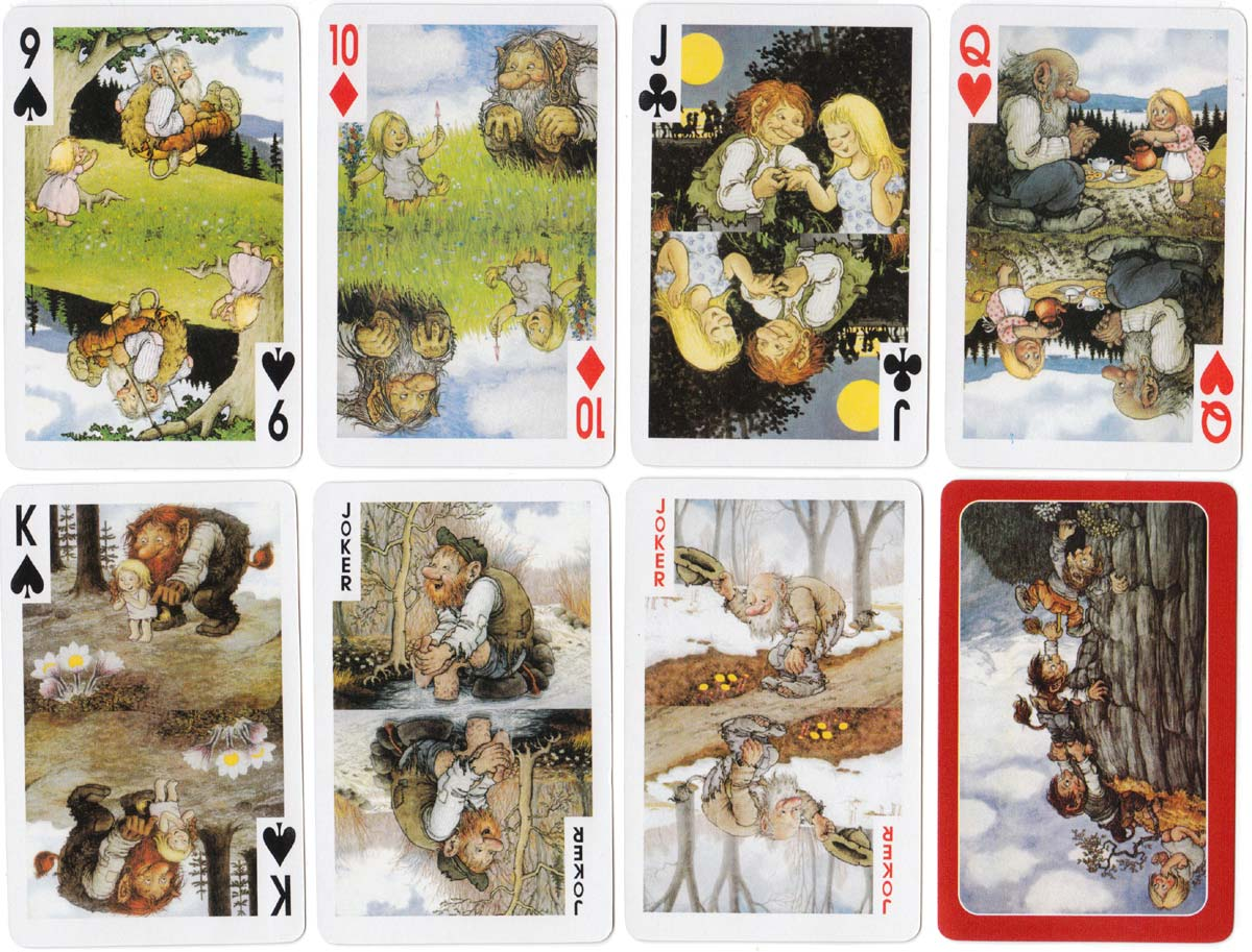 Norwegian Troll Cards published by Aune Forlag of Trondheim