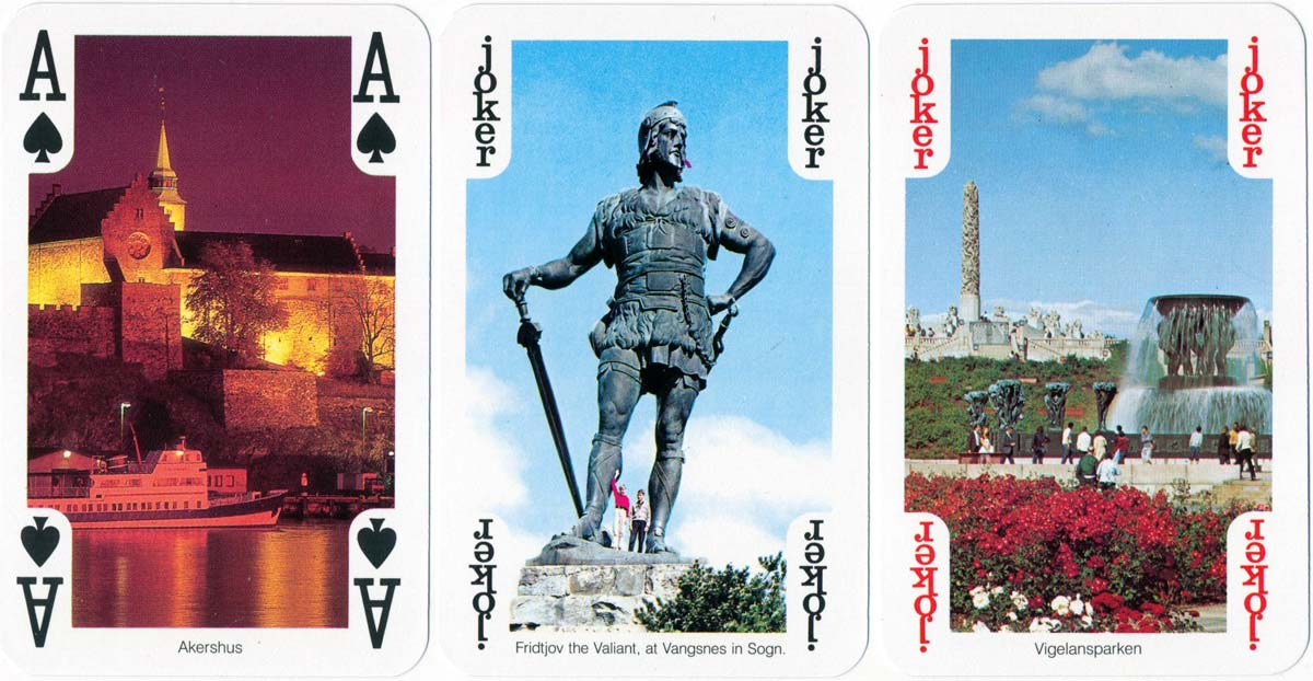 """54 Views from Norway"" souvenir playing cards published by Normanns Kunstforlag A/S, c.1990s"