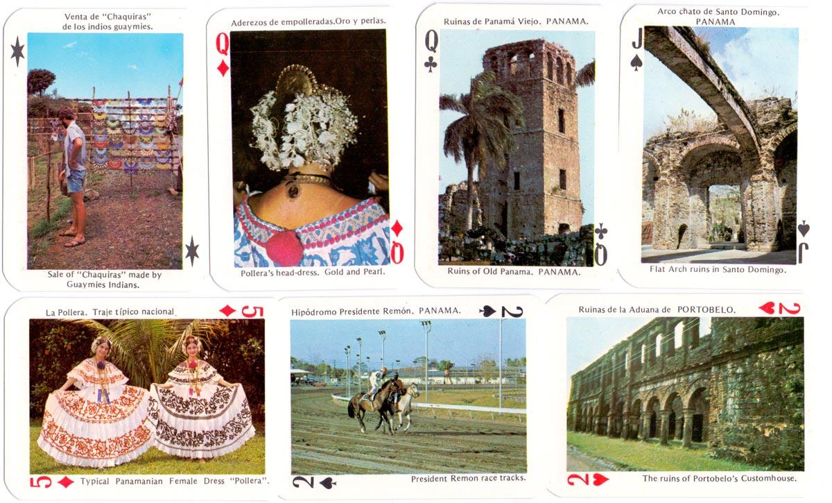 Recuerdos de Panama tourist playing cards, printed by Litho Garso, S.A., Panama, c.1980s