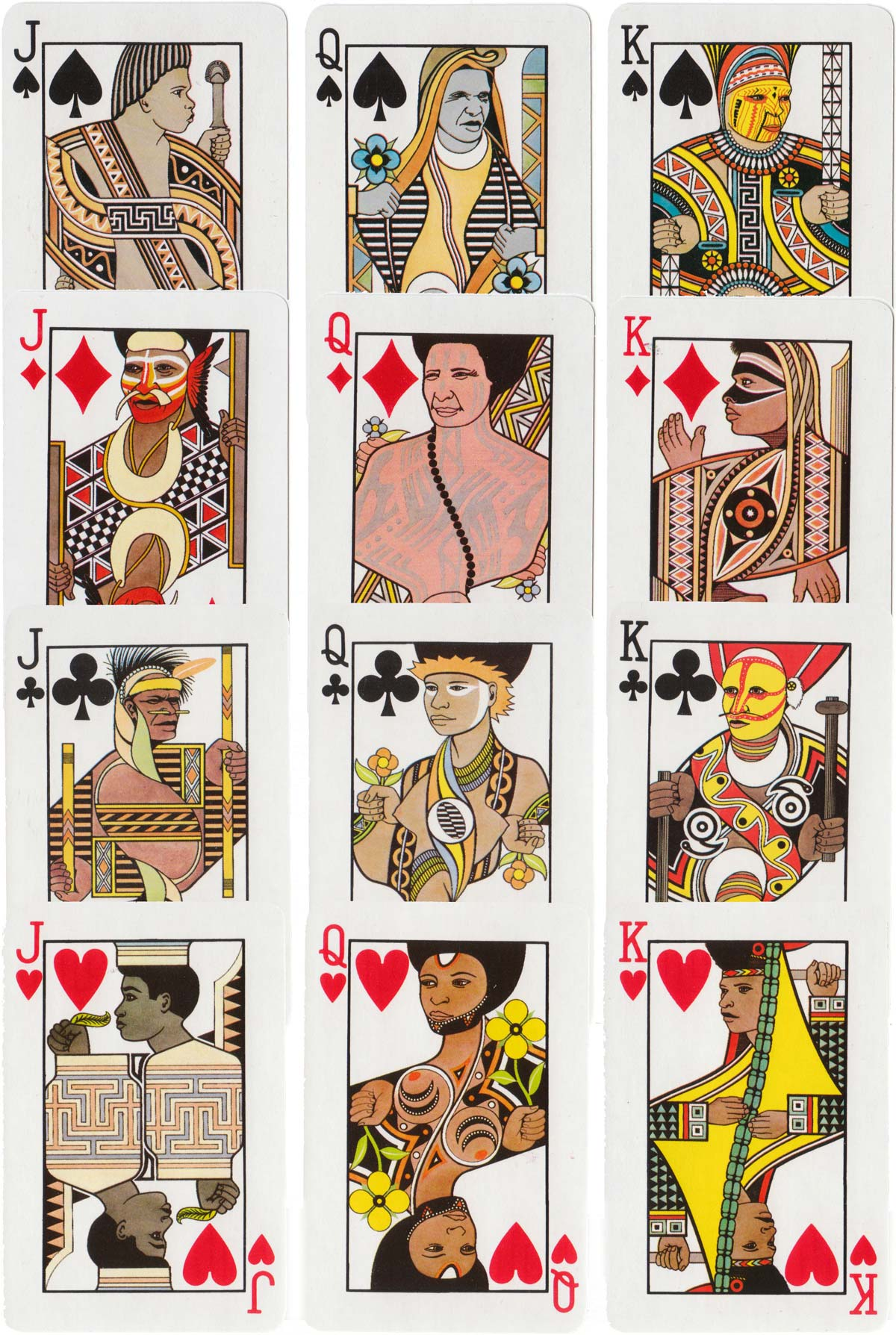 Papua New Guinea playing cards designed by Graeme Ross