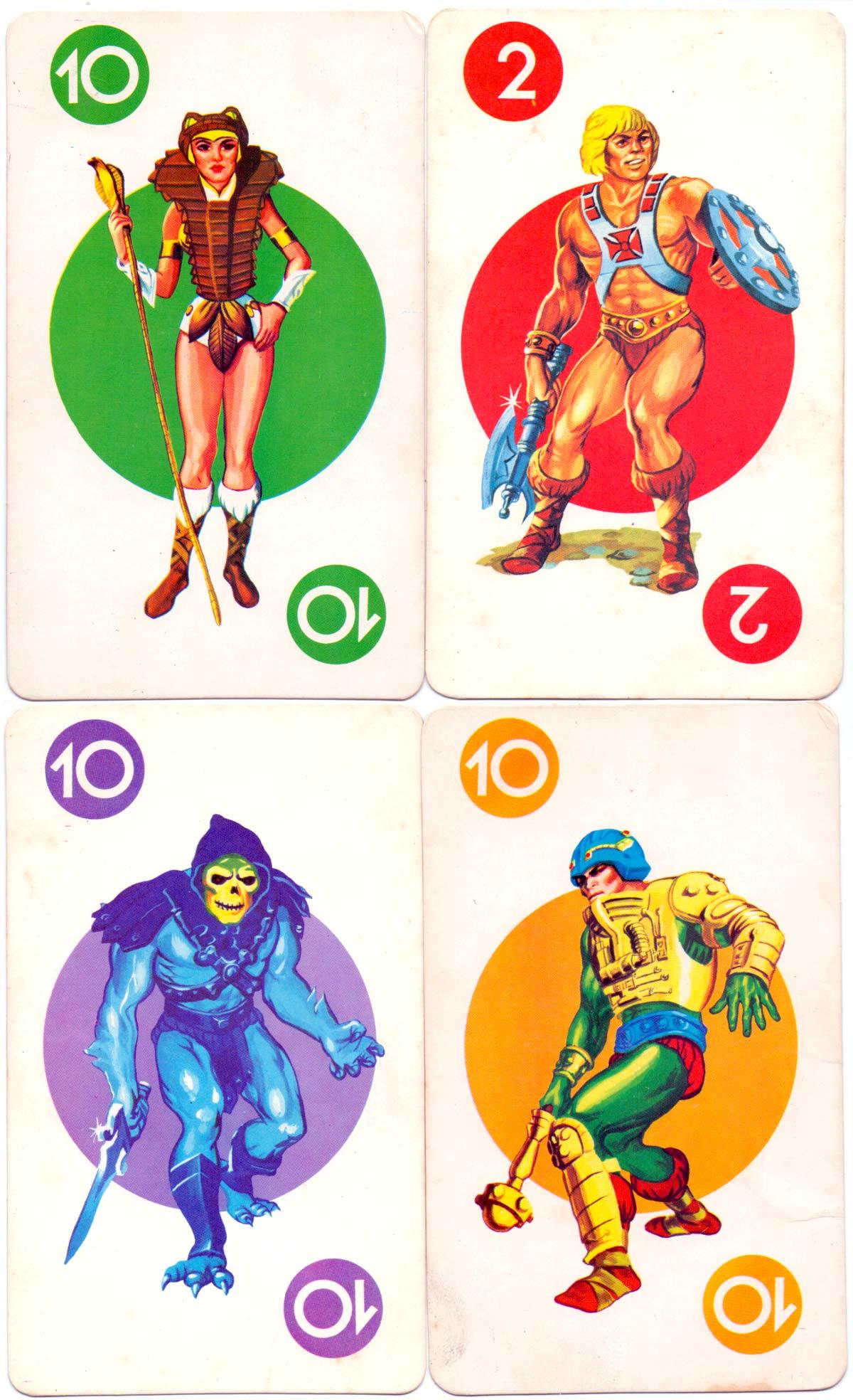 """Amos del Universo"" card game published by Lito Goicochea Hnos, S.A., Peru, c.1980"