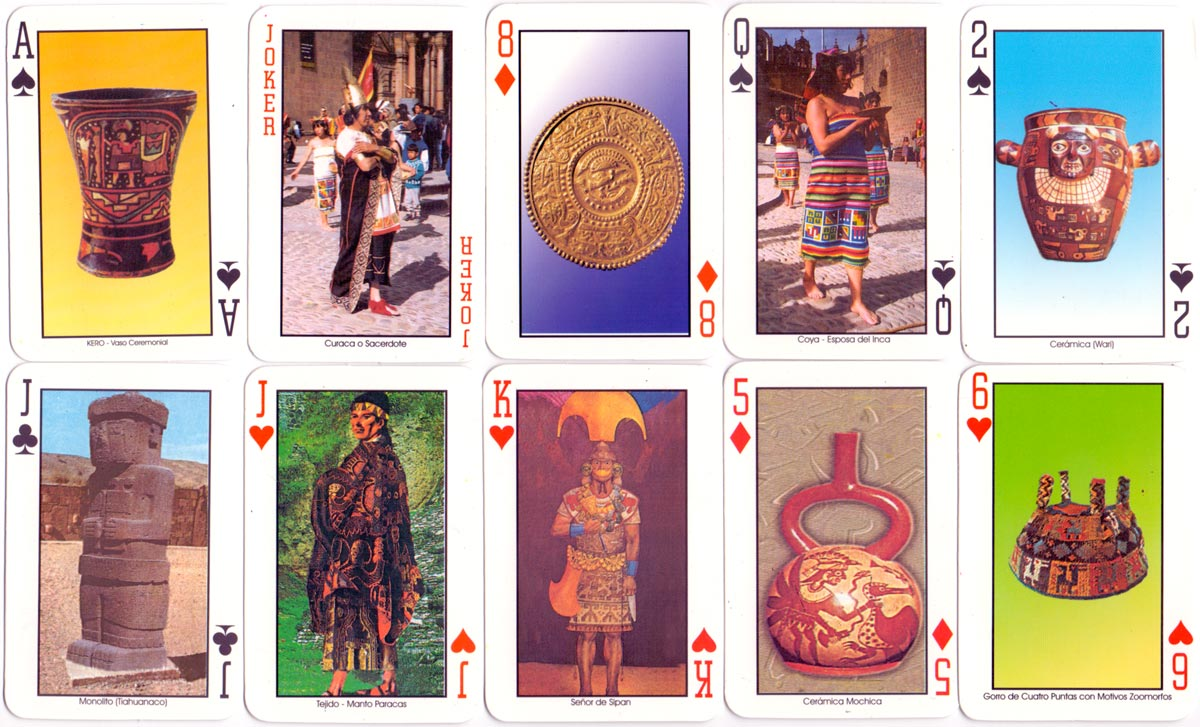 Pre-Incas & Incas Souvenir Playing Cards, Cusco, Peru, 2000