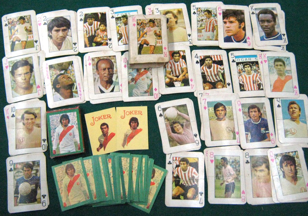 Peruvian Football Players playing cards, anonymous manufacturer